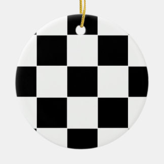 Checker Board Christmas Tree Ornament