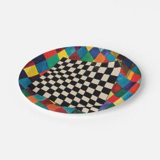Checker by Wassily Kandinsky Paper Plate
