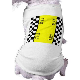 Checker Cab Taxi Design Sleeveless Dog Shirt