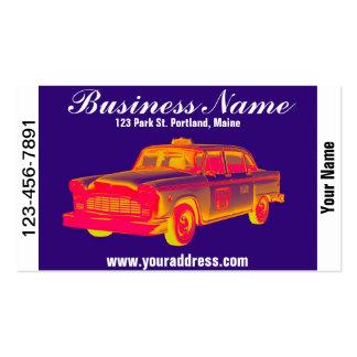 Checker Cab Taxi Pop Art Business Card Templates