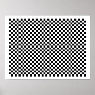 Checker Chess Board Poster