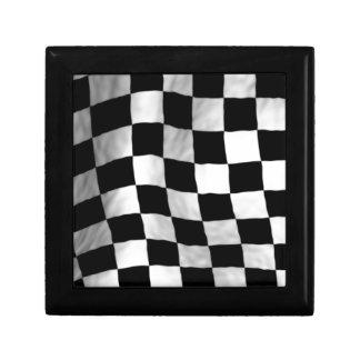 Checker Flag Small Square Gift Box