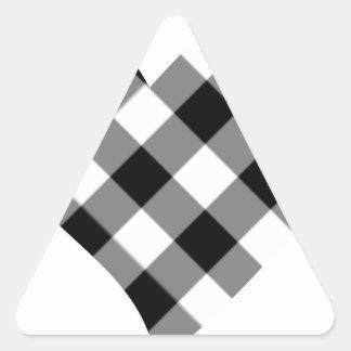 checker heart triangle sticker