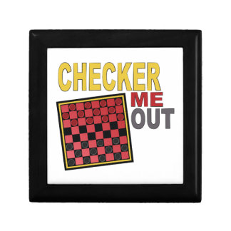 Checker Me Out Small Square Gift Box