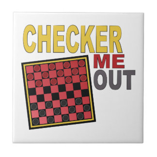 Checker Me Out Small Square Tile