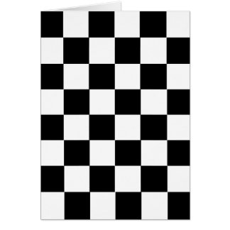 Checker Pattern Greeting Card