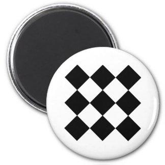 Checkerboard 6 Cm Round Magnet