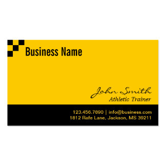 Checkerboard Athletic Trainer Business Card