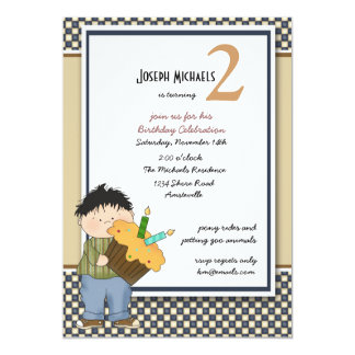 Checkerboard Birthday Party  Invitation