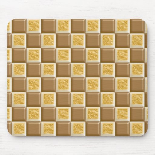 Checkerboard - Chocolate Marshmallow Mousepad