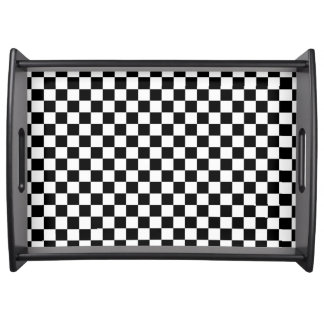 CHECKERBOARD DESIGN LARGE SERVING TRAY