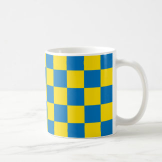 Checkerboard designed - Swedish colors Coffee Mug
