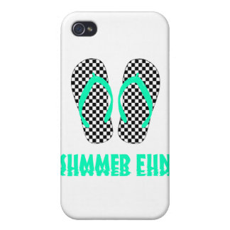 Checkerboard Flip Flops Case For iPhone 4