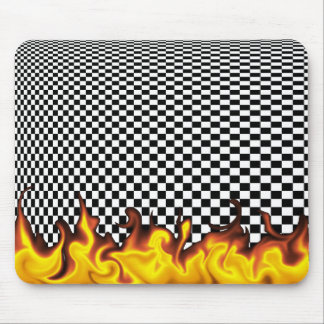 Checkerboard Infinity Mouse Mat