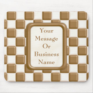 Checkerboard - Milk Chocolate and White Chocolate Mouse Pad