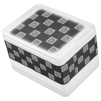 Checkerboard of Grays 12 Can Cooler Igloo Cooler