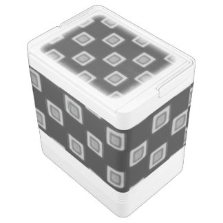 Checkerboard of Grays 24 Can Cooler Igloo Cooler
