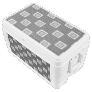 Checkerboard of Grays 48 Quart Cooler Chest Cooler