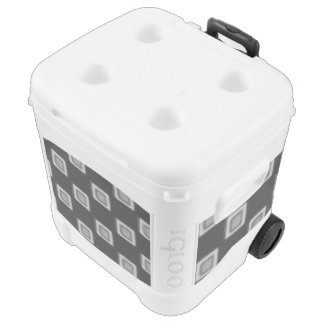 Checkerboard of Grays 60 Quart Rolling Cooler