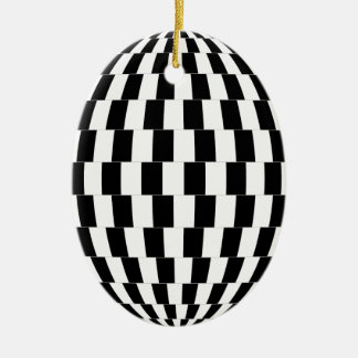 Checkerboard Optical Illusion Sphere Christmas Ornament
