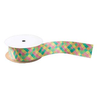 Checkerboard Pastel Satin Ribbon