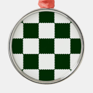 checkerboard pattern christmas ornament