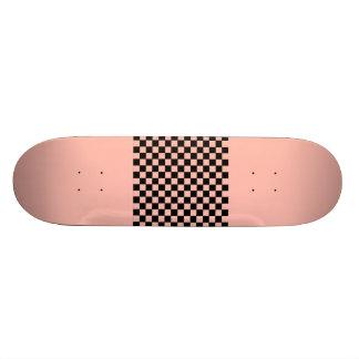 Checkerboard Peach Girlie Hipster Skateboard