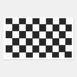 Checkerboard Rectangular Sticker