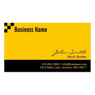 Checkerboard Stock Broker Business Card