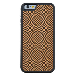 Checkerboard Warp Square Pattern Carved Cherry iPhone 6 Bumper Case