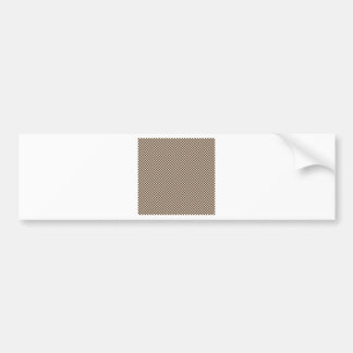 Checkered - Almond and Cafe Noir Car Bumper Sticker