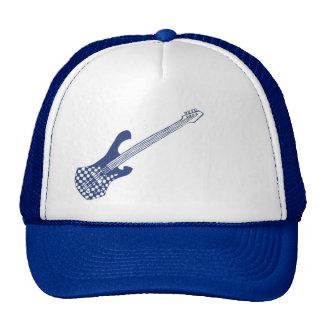 Checkered Bass Hat-Blue Cap