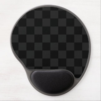 Checkered - Black and Dark Gray Gel Mouse Pad