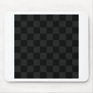 Checkered - Black and Dark Gray Mouse Pad