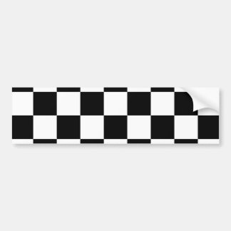 Checkered Black and White Bumper Sticker