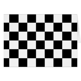 Checkered Black and White Greeting Card