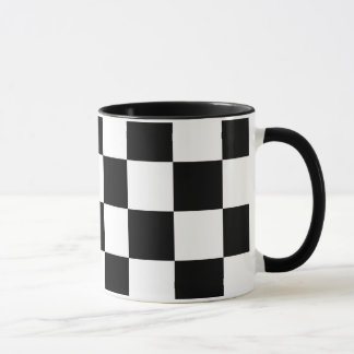 Checkered Black and White Mug