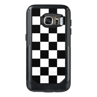 Checkered Black and White Pattern OtterBox Samsung Galaxy S7 Case