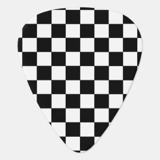 Checkered Black and White Plectrum