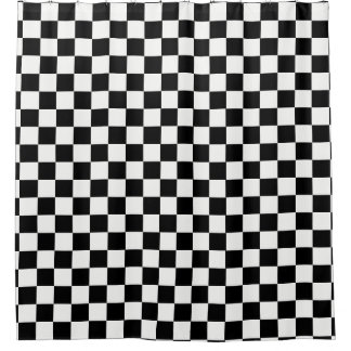 Checkered Black and White Shower Curtain