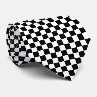 Checkered Black and White Tie