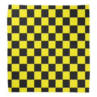 Checkered Black and Yellow Bandannas