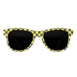 Checkered Black and Yellow Sunglasses