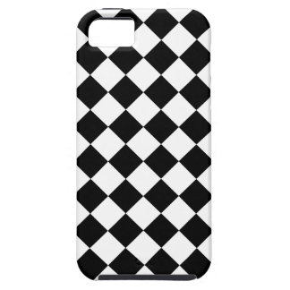 Checkered Black & White Patterned iPhone 5 Case