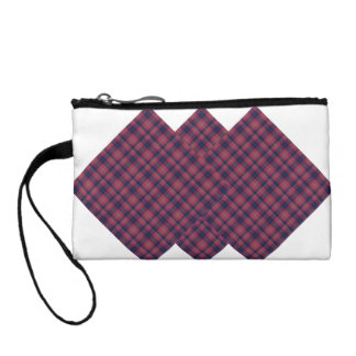 Checkered Blue and Red Coin Purses