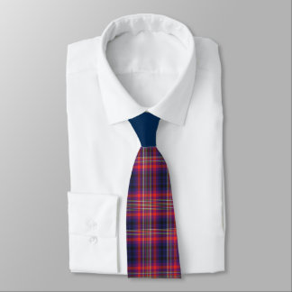 Checkered Blue and Red Tie