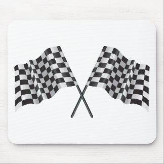 checkered cross flags mouse mat