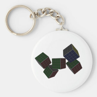 Checkered Cubes Keychains