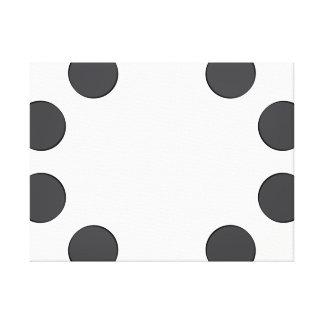 Checkered DarkGrey Dots Canvas Print