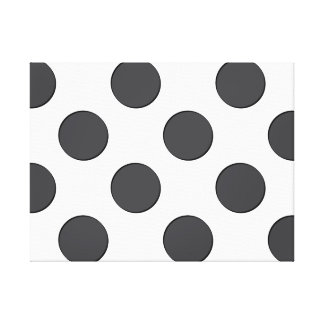 Checkered DarkGrey Dots Gallery Wrapped Canvas